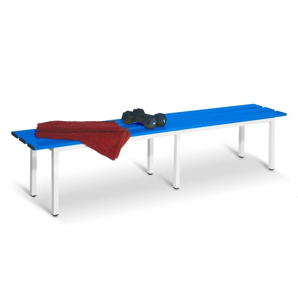 Banco de metal azul de 2000 mm de ancho