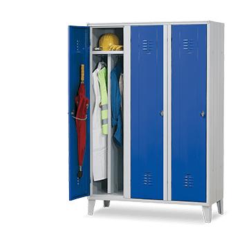 Taquilla azul 1 puerta de 300 mm - 2 cuerpos