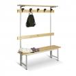 Banco de madera con perchero 1500 mm de ancho