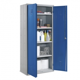 Armario Multiusos 2 puertas azules con carga