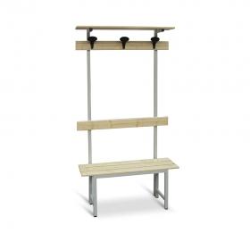 Banco de madera con perchero 1000 mm de ancho