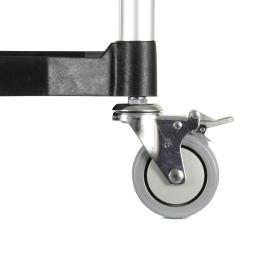 Carro aluminio con baldas - Detalle ruedas