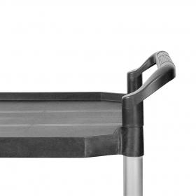 Carro aluminio con baldas - Detalle asa