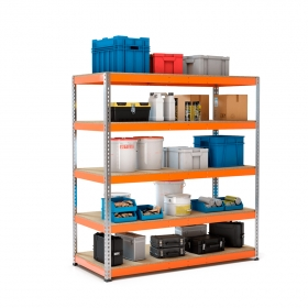 Estantería MaxPlus galva y naranja con carga