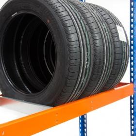 Estantería MaxPlus neumáticos - Detalle de largueros y puntal