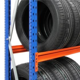 Estantería Picking neumáticos - Detalle del bastidor y larguero