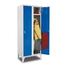 Taquilla soldada azul 1 puerta 2 cuerpos con carga