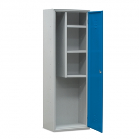 Armario de limpieza 1 puerta azul.