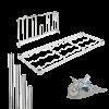 Componentes de acero cromado